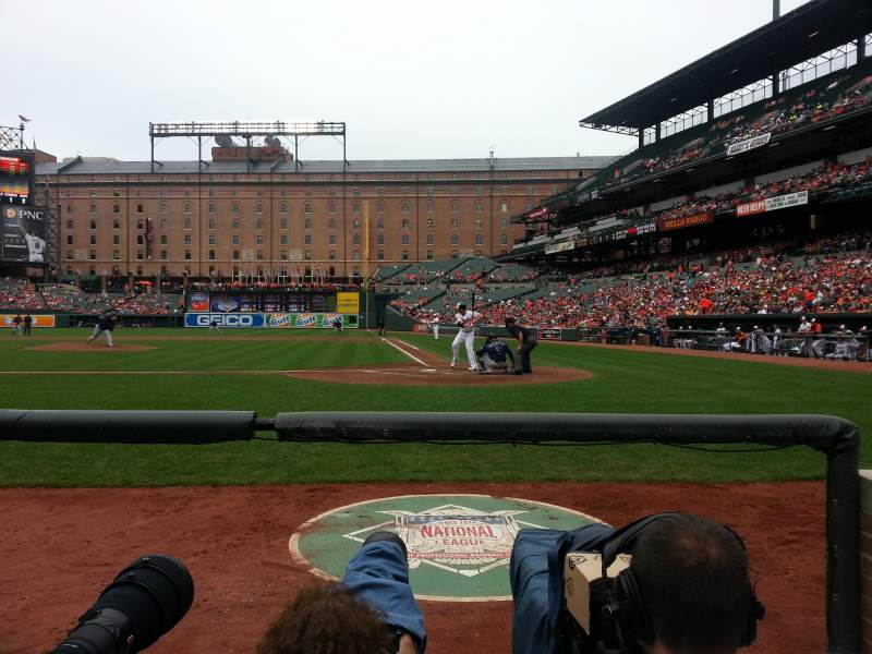 Seating view for Oriole Park at Camden Yards Section 46 Row 1 Seat 8