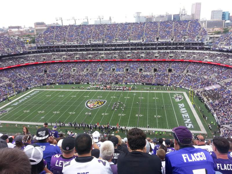 Seating view for M&T Bank Stadium Section 524 Row 27 Seat 15