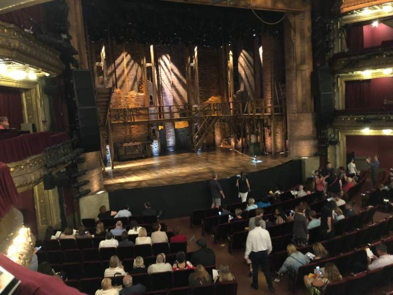 Seating view for CIBC Theatre Section Dress Circle L Row A Seat 1