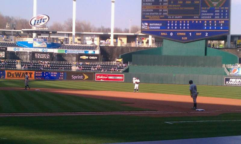 Seating view for Kauffman Stadium Section 132 Row D Seat 5
