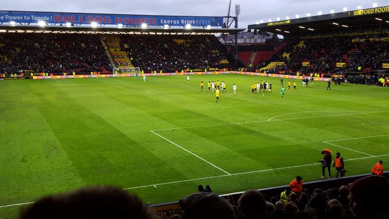 Seating view for Vicarage Road Section RS1 Row A Seat 22