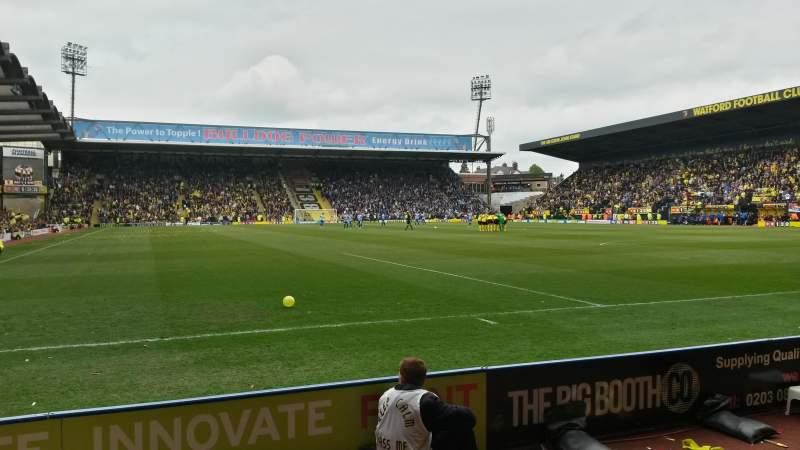 Seating view for Vicarage Road Section RS5 Row DD Seat 31