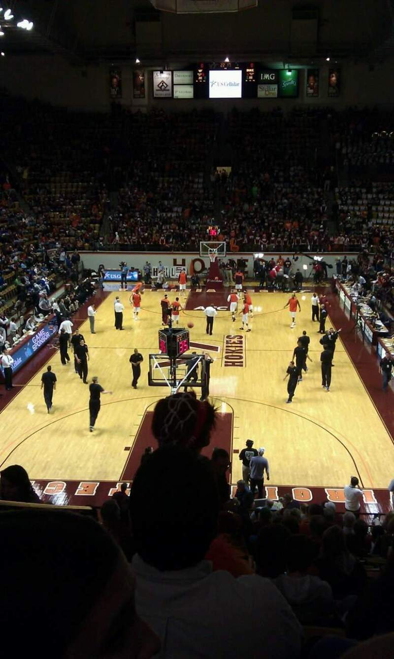 Seating view for Cassell Coliseum Section 18 Row v