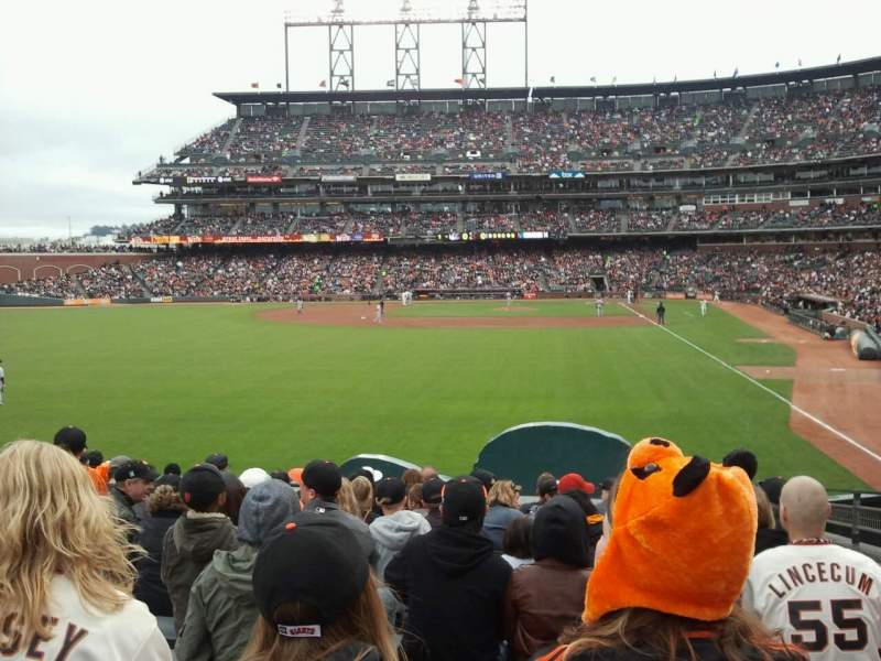 Seating view for Oracle Park Section 136 Row 14 Seat 2