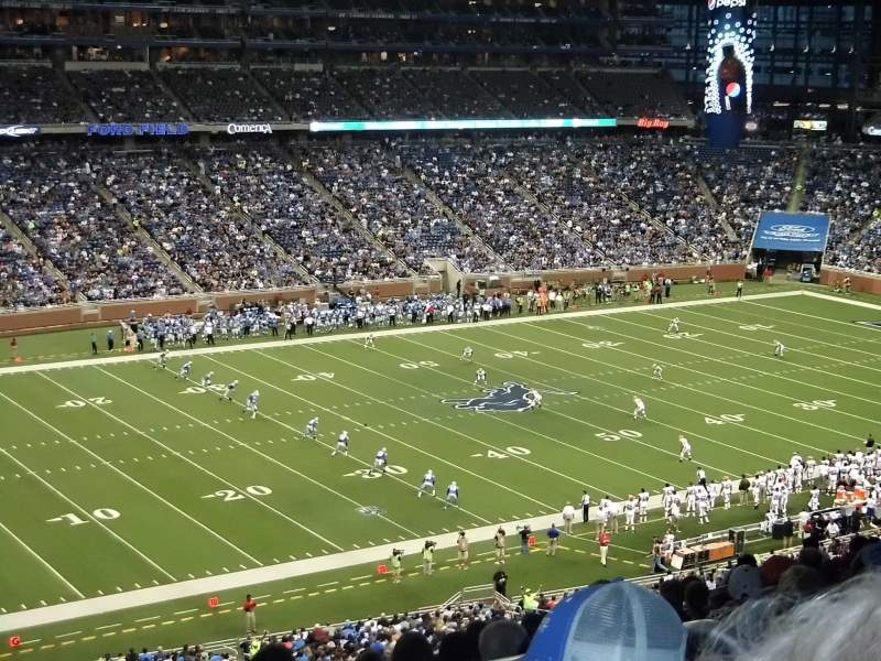 Seating view for Ford Field Section 326 Row 13 Seat 25