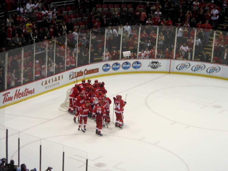 Seating view for joe louis arena Section 221 Row 17 Seat 12