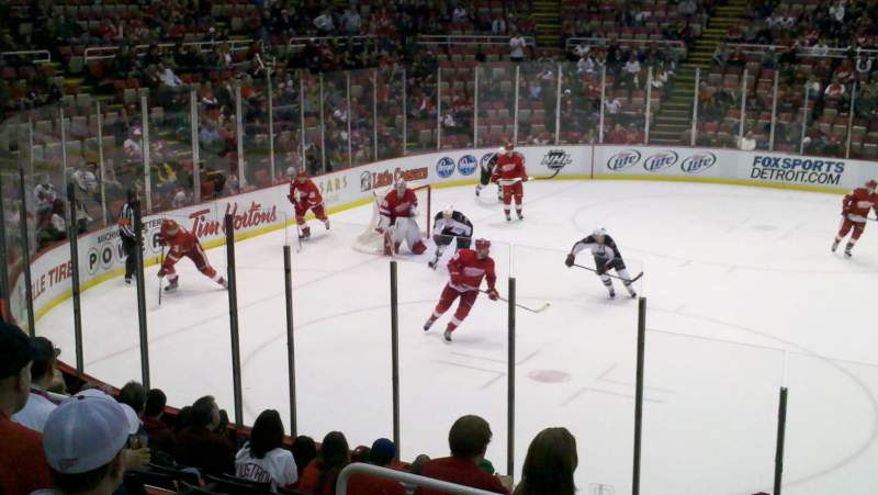 Seating view for Joe Louis Arena Section 123 Row 13 Seat 11