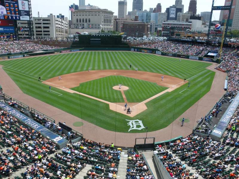 Seating view for Comerica Park Section 328 Row A Seat 10