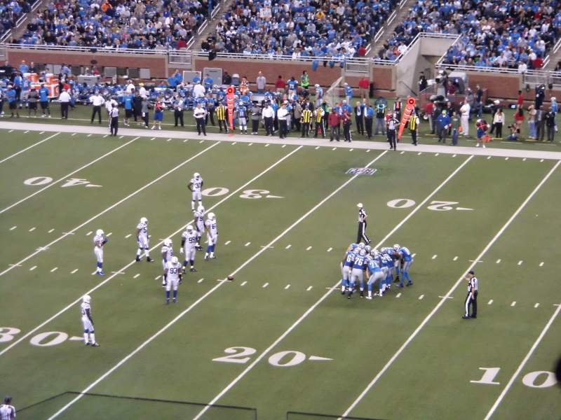 Seating view for Ford Field Section 335 Row 6 Seat 4