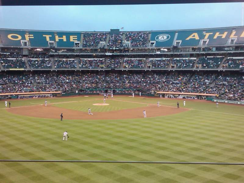 Seating view for Oakland Alameda Coliseum Section Box site Row 1 Seat 3