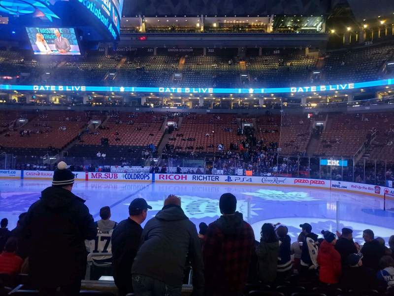 Seating view for Scotiabank Arena Section 107 Row 11 Seat 10