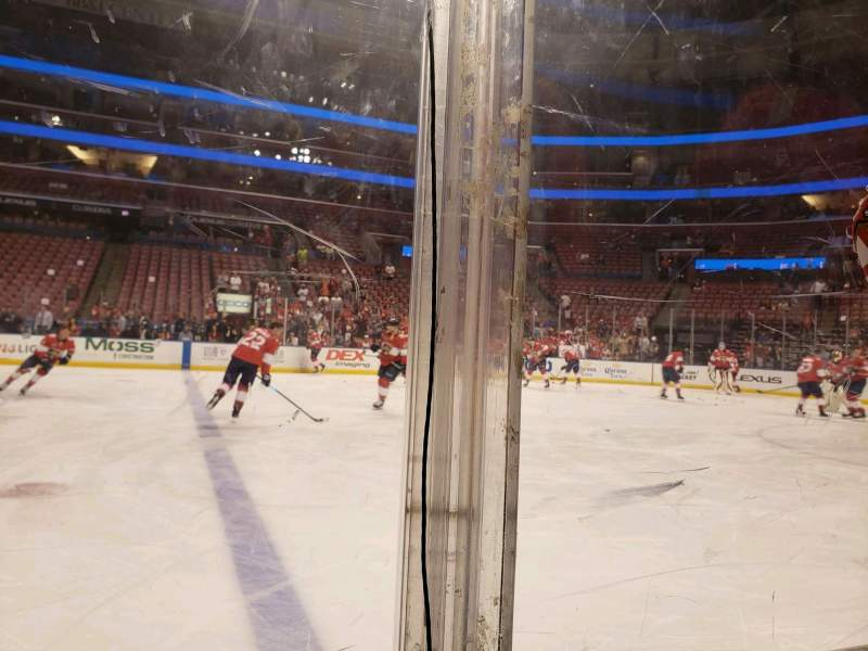 Seating view for BB&T Center Section 117 Row 1 Seat 10
