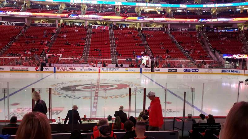 Seating view for PNC Arena Section 119 Row L Seat 4