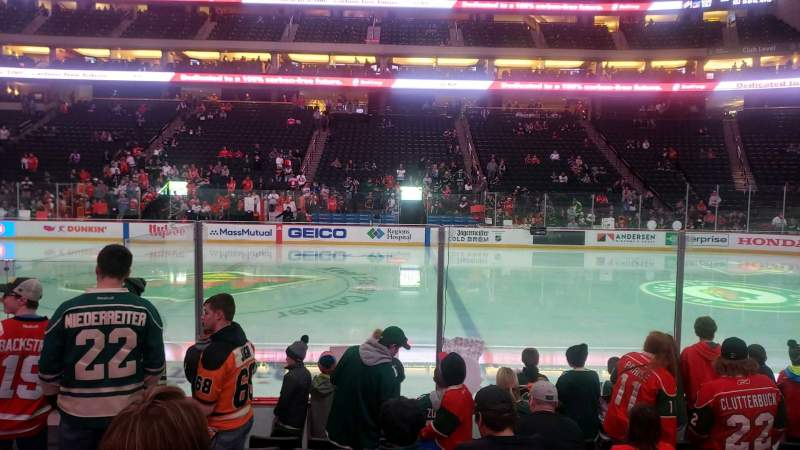 Seating view for Xcel Energy Center Section 103 Row 8 Seat 10