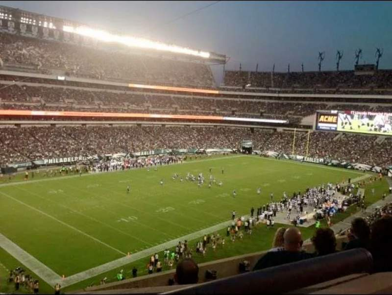 Seating view for Lincoln Financial Field Section C35 Row 10 Seat 15