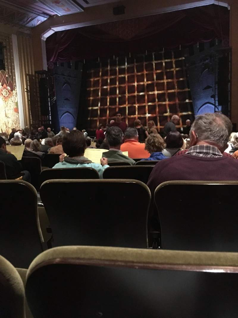 Seating view for Flynn Center for the Performing Arts Section Orch right Row U Seat 5