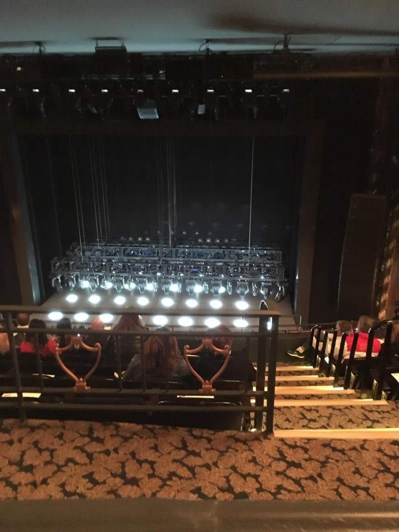 Seating view for Lunt-Fontanne Theatre Section Rear Mezzanine RC Row A Seat 112