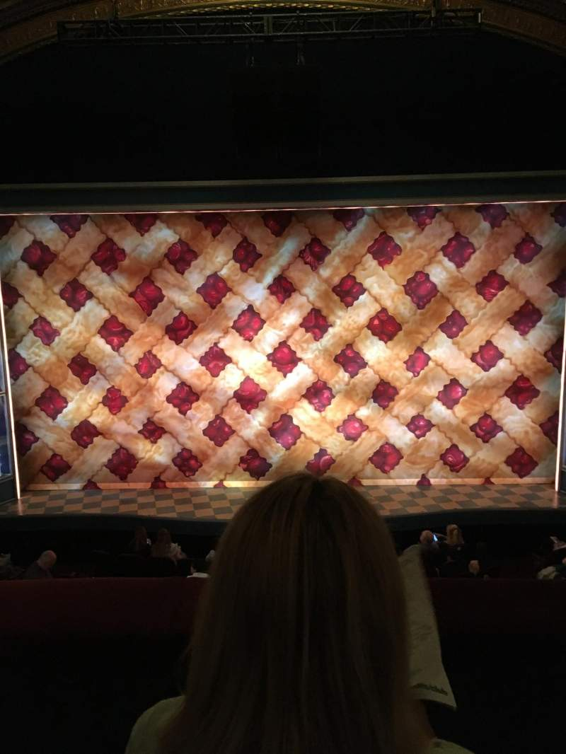 Seating view for Brooks Atkinson Theatre Section Front Mezzanine C Row B Seat 108