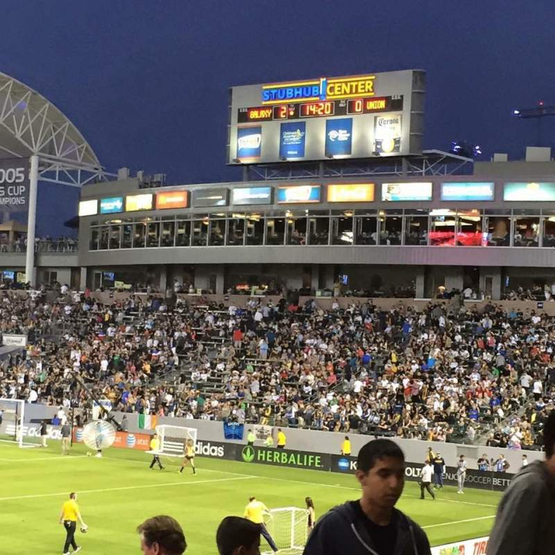 Seating view for StubHub Center Section 111 Row R Seat 5