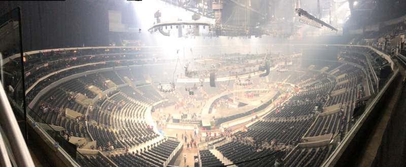 Seating view for Staples Center Section 305 Row 1 Seat 1
