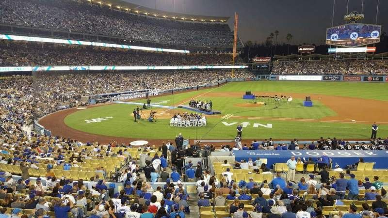 Seating view for Dodger Stadium Section 128LG Row A Seat 5