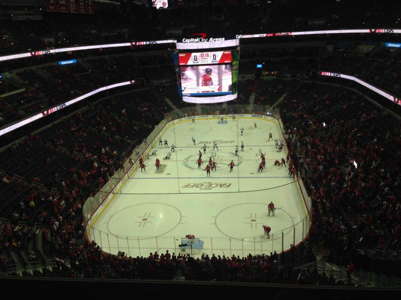 Seating view for Capital One Arena Section 426 Row E Seat 12-13