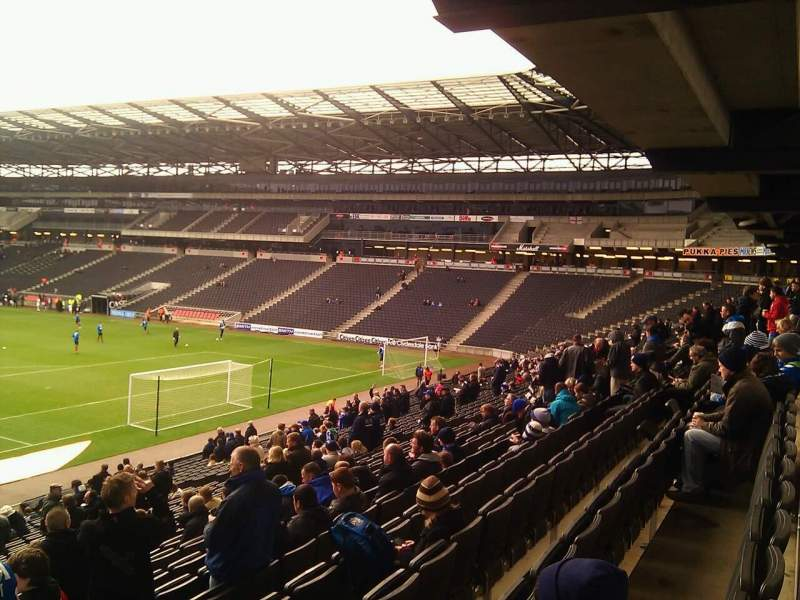 Seating view for Stadium:MK Section 34 Row DD Seat 972