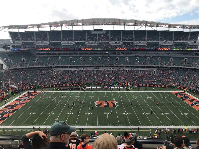 Seating view for Paul Brown Stadium Section 340 Row 8 Seat 17