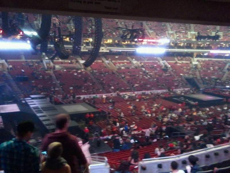 Seating view for Wells Fargo Center Section Club Box 22