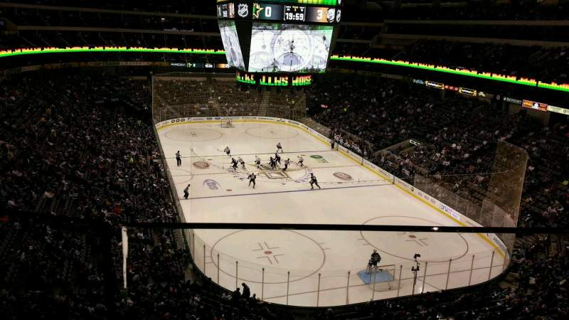 Seating view for American Airlines Center Section 303 Row AA Seat 8