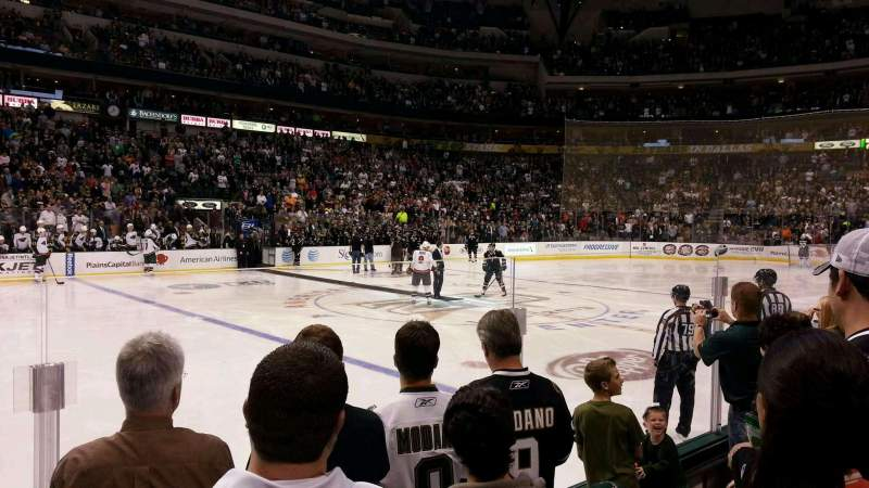 Seating view for American Airlines Center Section 108 Row D Seat 10
