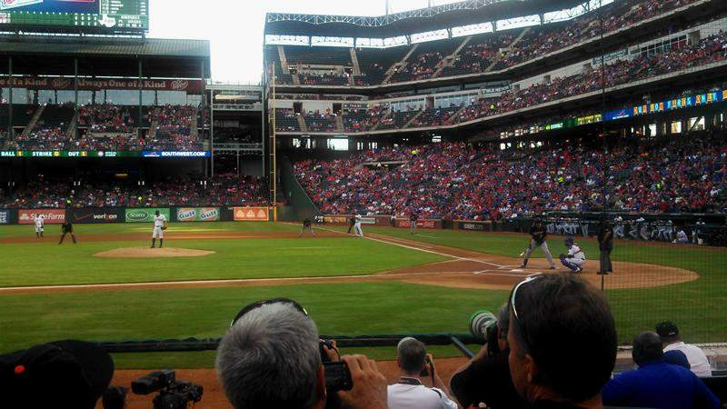 Seating view for Globe Life Park in Arlington Section 20 Row 6 Seat 15