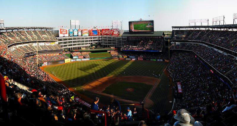 Seating view for Globe Life Park in Arlington Section 324 Row 19 Seat 1