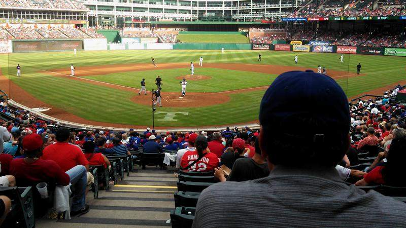 Seating view for Globe Life Park in Arlington Section 27 Row 26 Seat 1