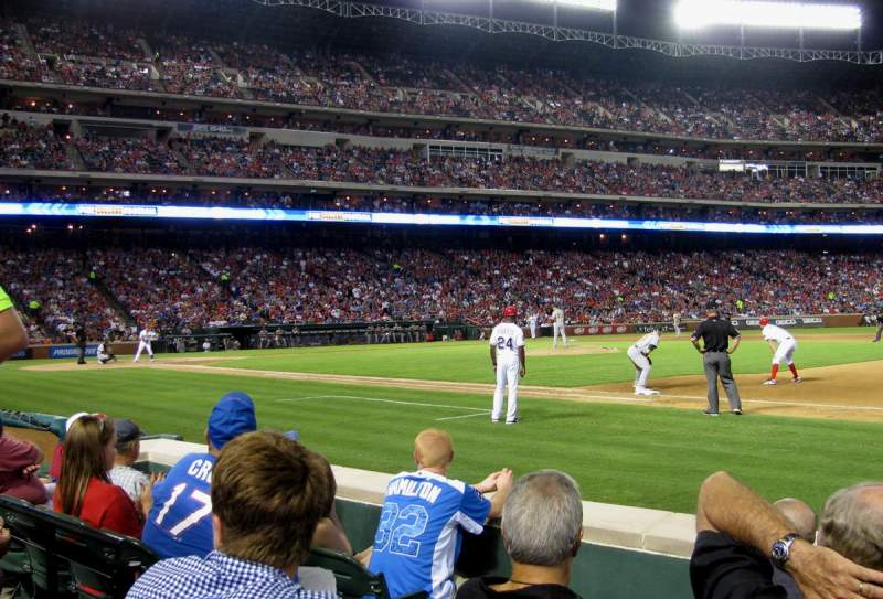 Seating view for Globe Life Park in Arlington Section 35 Row 2 Seat 4