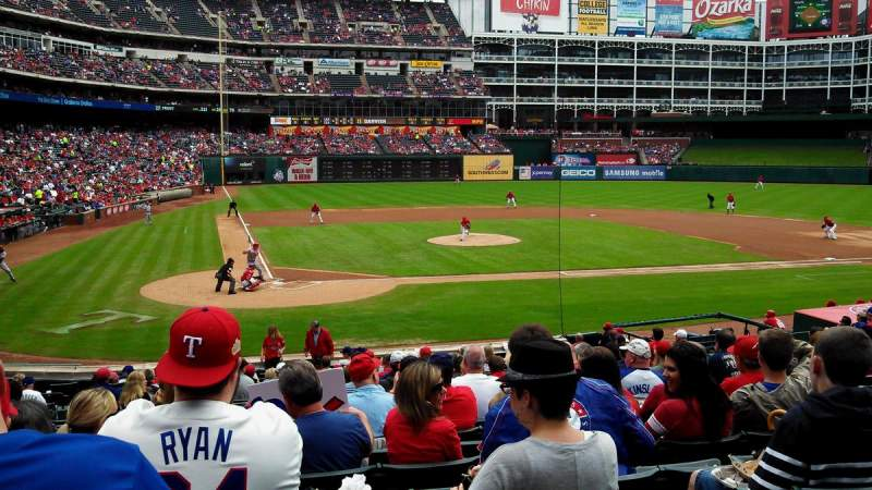 Seating view for Globe Life Park in Arlington Section 30 Row 21 Seat 7