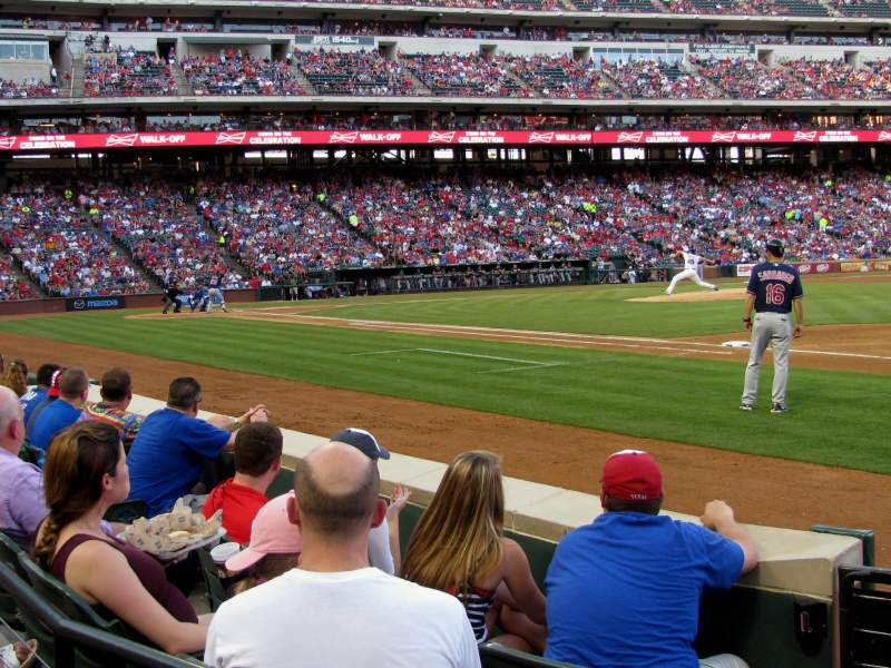 Seating view for Globe Life Park in Arlington Section 36 Row 2 Seat 1