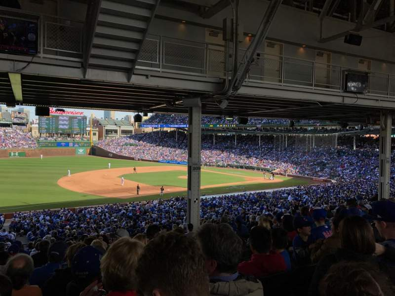Seating view for Wrigley Field Section 208 Row 19 Seat 10