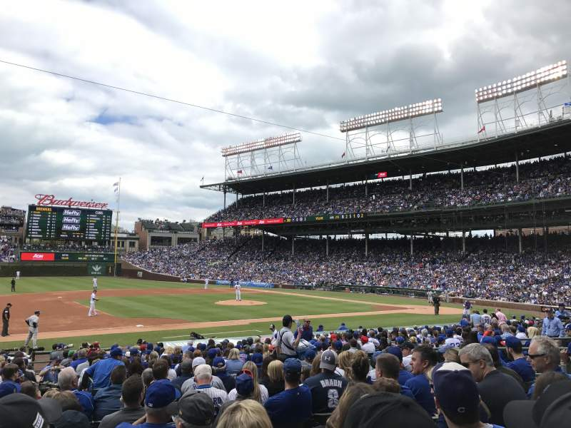 Seating view for Wrigley Field Section 111 Row 9 Seat 4