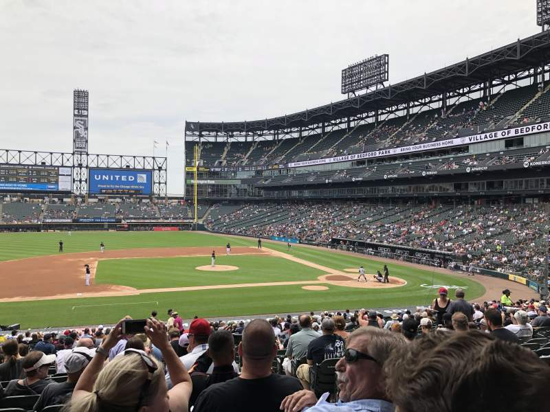Seating view for Guaranteed Rate Field Section 140 Row 32 Seat 2