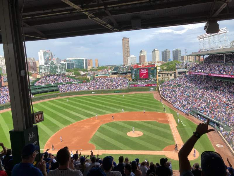 Seating view for Wrigley Field Section 413L Row 5 Seat 5