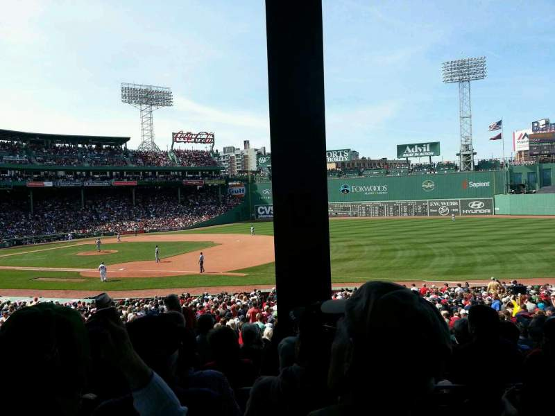 Seating view for Fenway Park Section Grandstand 12 Row 4 Seat 14