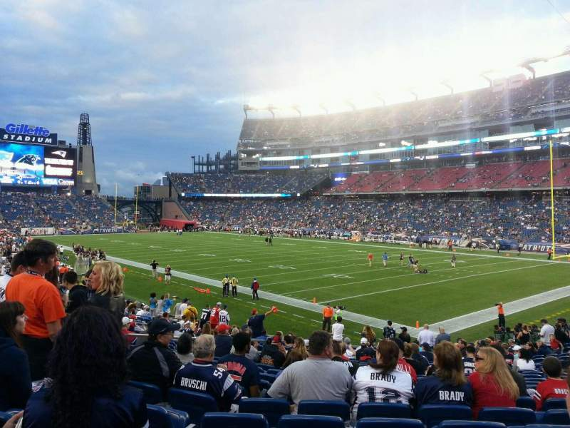 Seating view for Gillette Stadium Section 125 Row 23 Seat 7