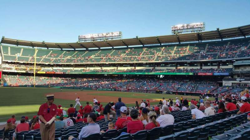 Seating view for Angel Stadium Section 107 Row N Seat 15
