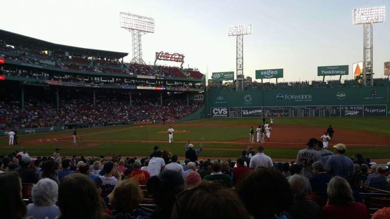 Seating view for Fenway Park Section Loge Box 113 Row EE Seat 1