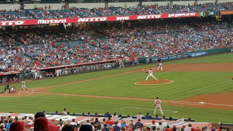 Seating view for Angel Stadium Section 225 Row G Seat 11