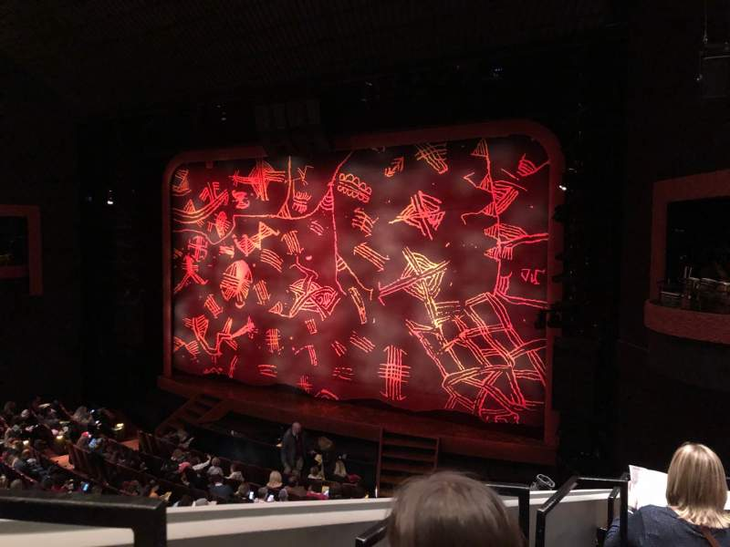 Seating view for Minskoff Theatre Section Mezzanine Row EE Seat 4