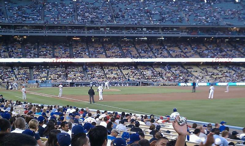 Seating view for Dodger Stadium Section 40FD Row L Seat 13