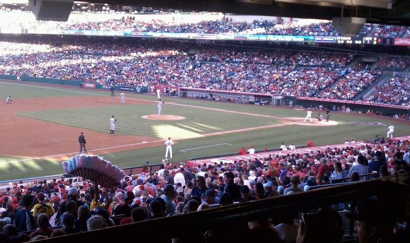 Seating view for Angel Stadium Section 208