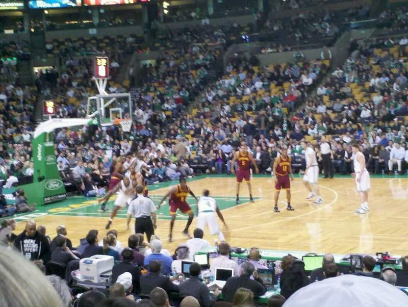 Seating view for TD Garden Section Loge 22